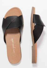 New Look Wide Fit - WIDE FIT HOLLIE COMFY FOOTBED MULE - Matalakantaiset pistokkaat - black - 3