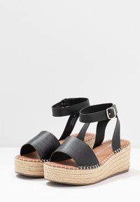 New Look Wide Fit - WIDE FIT POPPINS - Espadrilky - black - 4