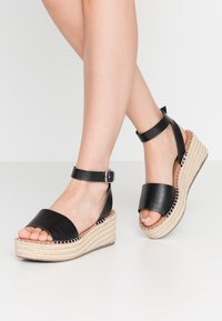 New Look Wide Fit - WIDE FIT POPPINS - Espadrilky - black - 0