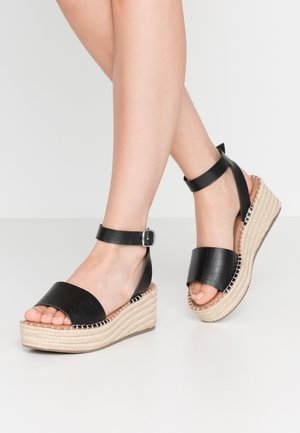 WIDE FIT POPPINS - Espadrilles - black