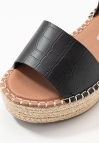 New Look Wide Fit - WIDE FIT POPPINS - Espadrilky - black - 2