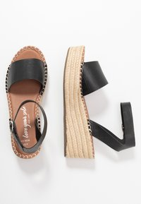 New Look Wide Fit - WIDE FIT POPPINS - Espadrilky - black - 3