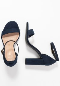 New Look Wide Fit - WIDE FIT VARONA - Sandalias de tacón - dark blue