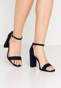 New Look Wide Fit - WIDE FIT VARONA - Sandalias de tacón - dark blue - 0