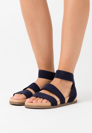 WIDE FIT HILLY - Sandals - navy
