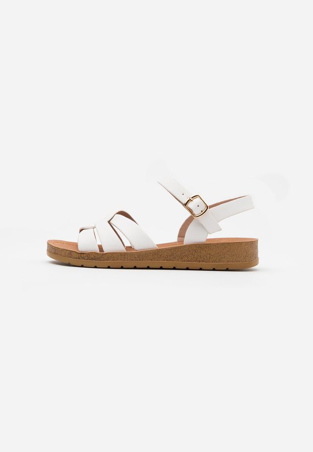 WIDE FIT HELGA - Sandals - white