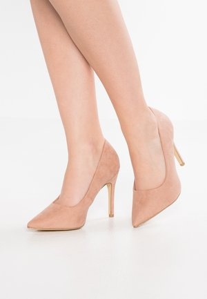 WIDE FIT SCOOP - Zapatos altos - oatmeal