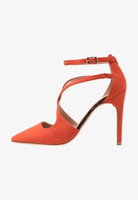 New Look Wide Fit - WIDE FIT RAPS - Zapatos altos - orange - 1