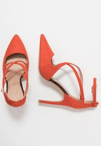 New Look Wide Fit - WIDE FIT RAPS - Zapatos altos - orange - 3