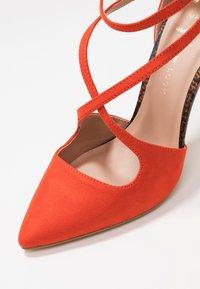 New Look Wide Fit - WIDE FIT RAPS - Zapatos altos - orange - 2
