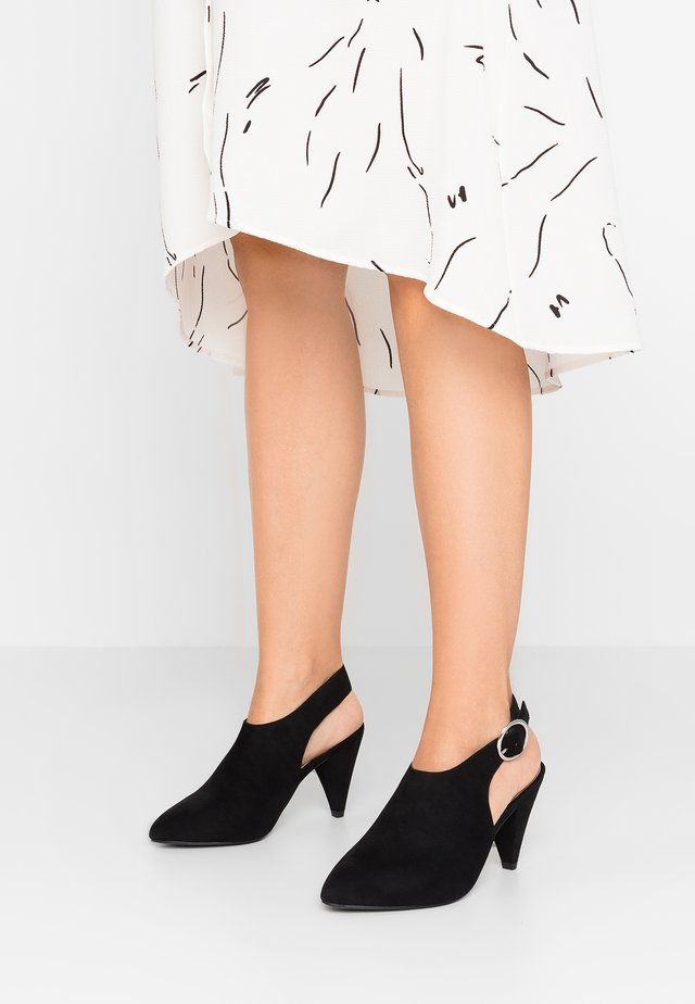 WIDE FIT RASCAL - High heeled ankle boots - black