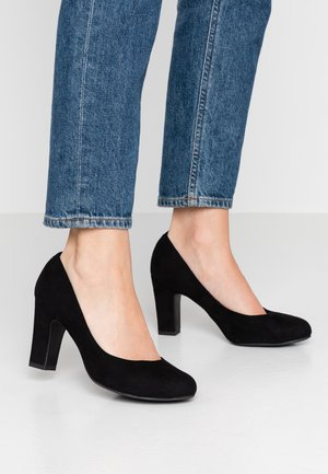 WIDE FIT RITA - Tacones - black