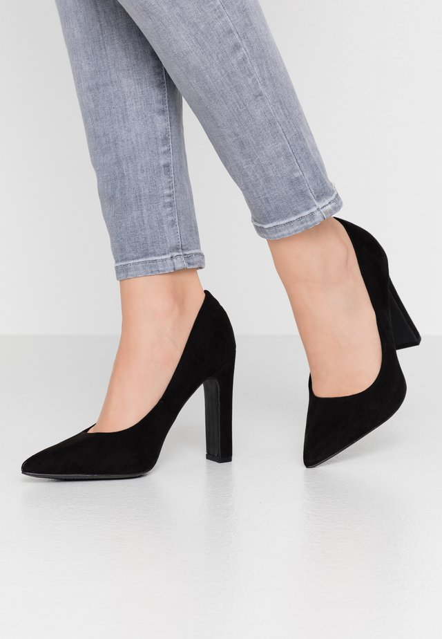 WIDE FIT SQUARE  - High Heel Pumps - black