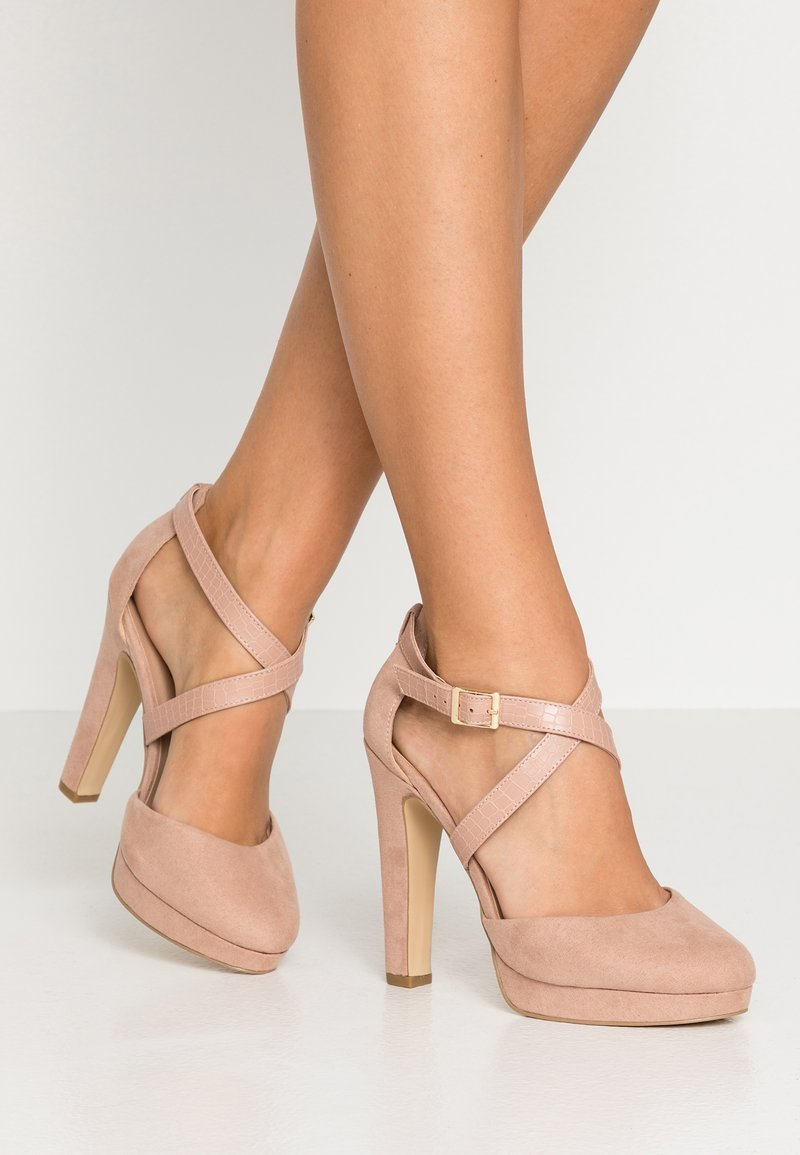 New Look Wide Fit - WIDE FIT STRAPPY  - Højhælede pumps - oatmeal