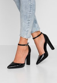 New Look Wide Fit - WIDE FIT SWEETY - Zapatos altos - black - 0