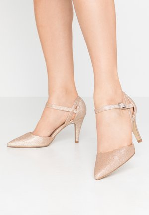 WIDE FIT SPARKLE - Tacones - rose gold