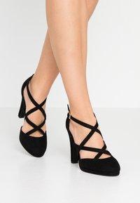 New Look Wide Fit - ZIGS - Zapatos altos - black - 0