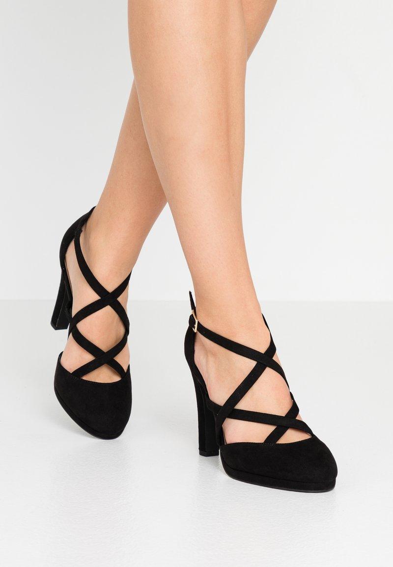 New Look Wide Fit - ZIGS - Zapatos altos - black