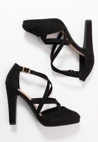 New Look Wide Fit - ZIGS - Zapatos altos - black - 3