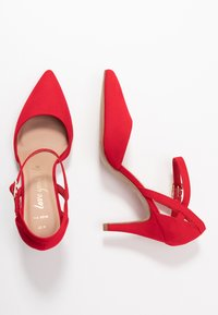 New Look Wide Fit - SPARKLE - High heels - bright red - 3