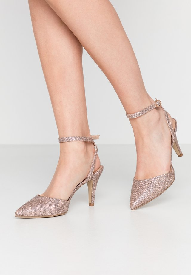 WIDE FIT REMY - Hoge hakken - rose gold