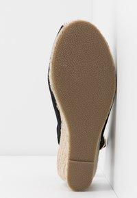 New Look Wide Fit - WIDE FIT SLING - Espadrilles - black - 6