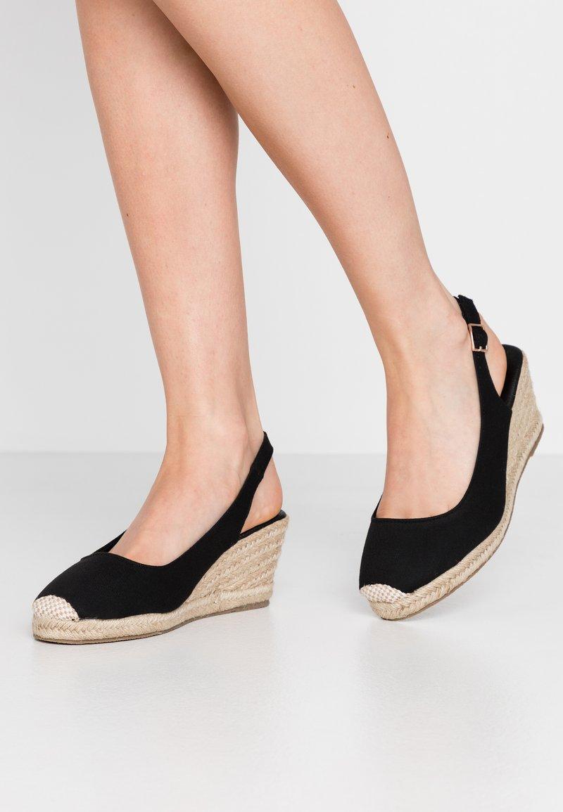 New Look Wide Fit - WIDE FIT SLING - Espadrilles - black