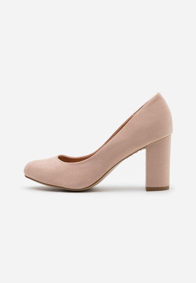 WIDE FIT REEMA BLOCK - High heels - oatmeal