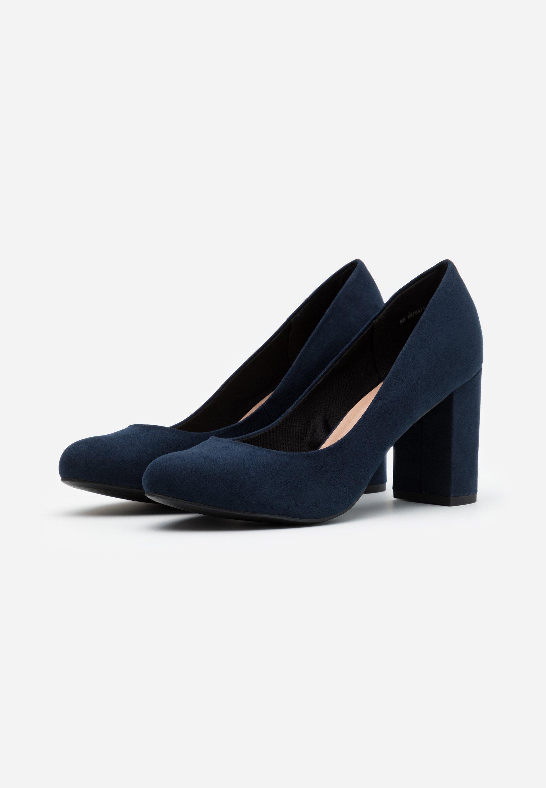 WIDE FIT REEMA BLOCK Zapatos altos navy