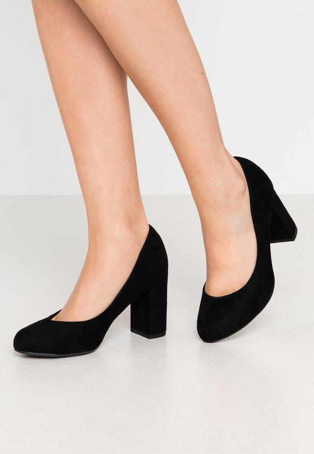WIDE FIT REEMA BLOCK - Escarpins à talons hauts - black