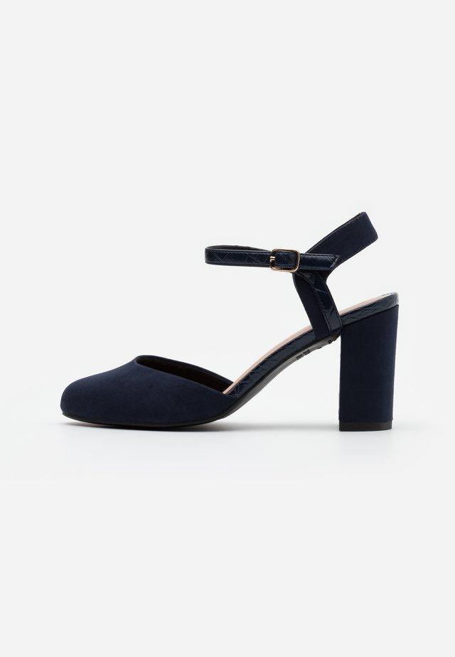WIDE FIT SHUTTER 2PART - High heels - navy