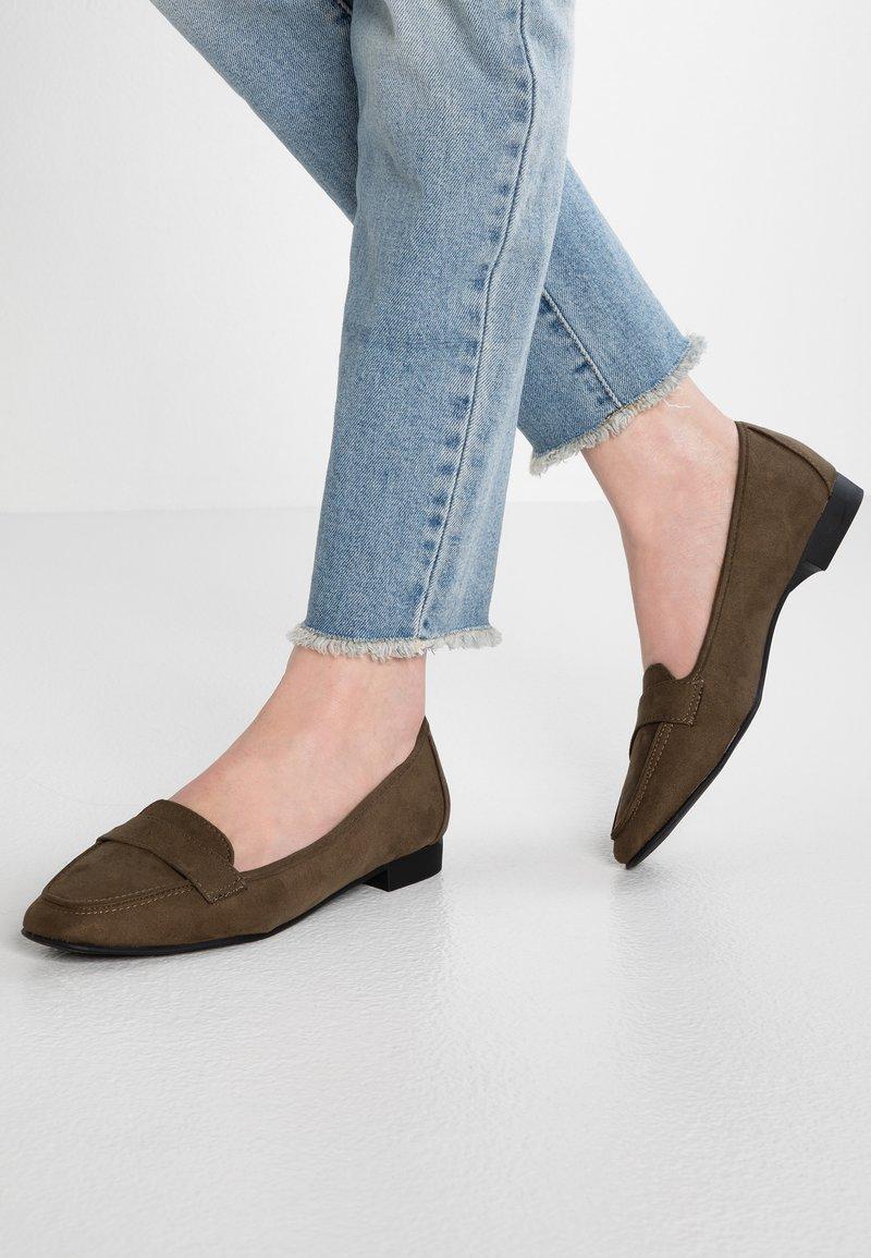 New Look Wide Fit - WIDE FIT LORNA - Slipper - dark khaki
