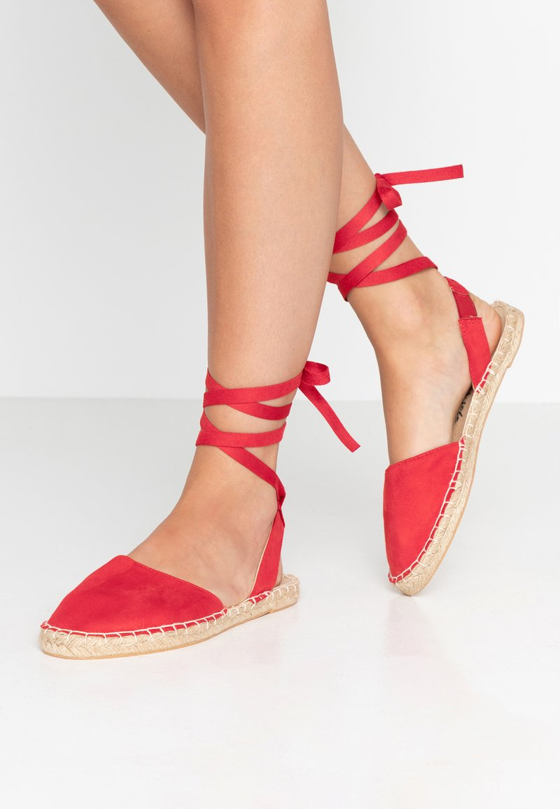 New Look Wide Fit - WIDE FIT MILLIE - Espadrilles - red
