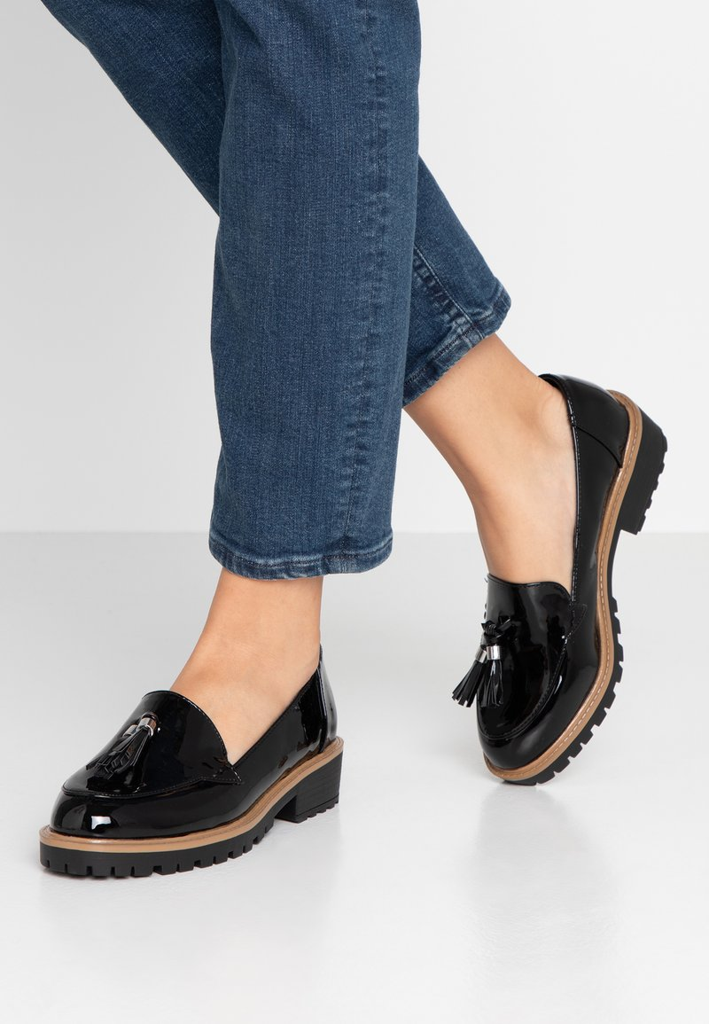 New Look Wide Fit - WIDE FIT LUNK  - Mocasines - black