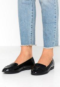 New Look Wide Fit - WIDE FIT JAMES - Slip-ons - black - 0