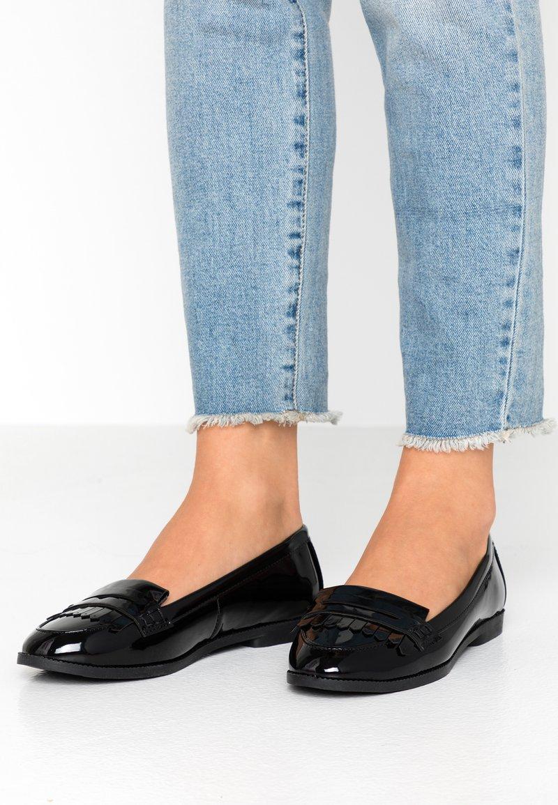 New Look Wide Fit - WIDE FIT JAMES - Slip-ons - black