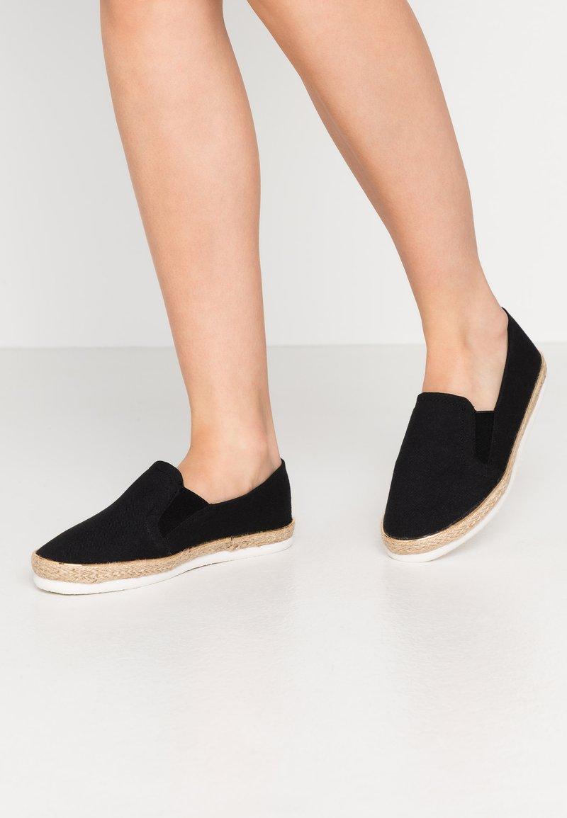 New Look Wide Fit - WIDE FIT MARLETTA - Espadrilles - black