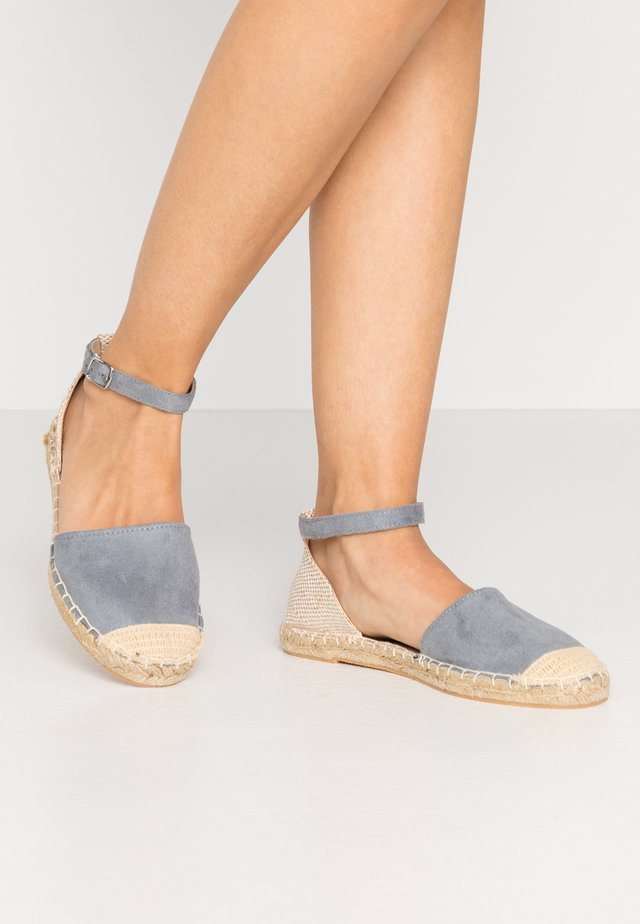 WIDE FIT MAJESTY - Espadrilles - light blue