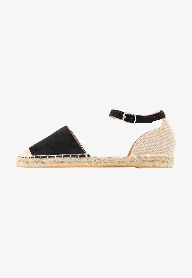 WIDE FIT MAJESTY - Espadrilles - black