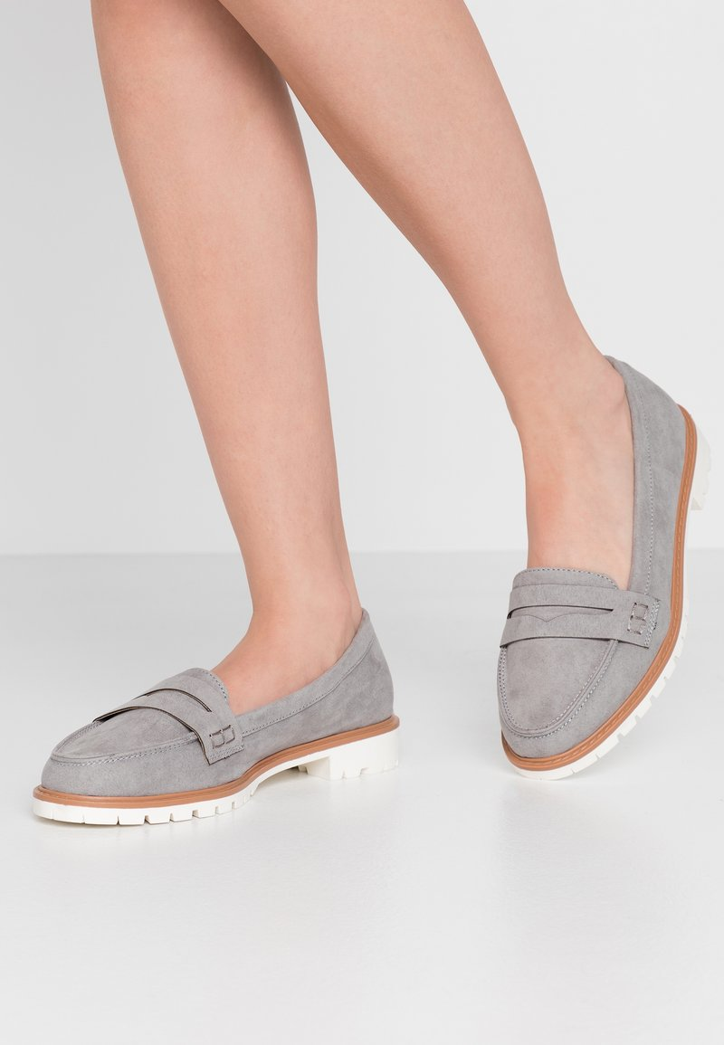 New Look Wide Fit - WIDE FIT JUNKER - Slip-ons - mid grey