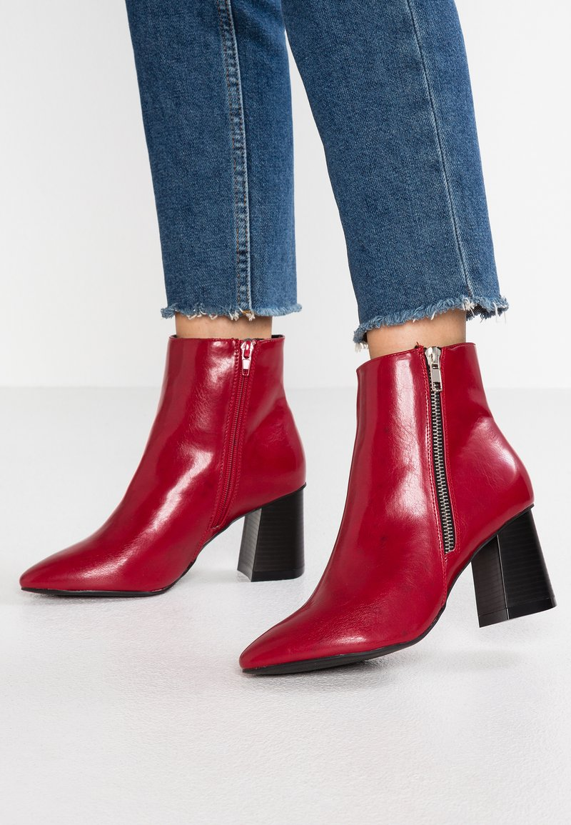 New Look Wide Fit - WIDE FIT ANI - Ankle boots - bright red