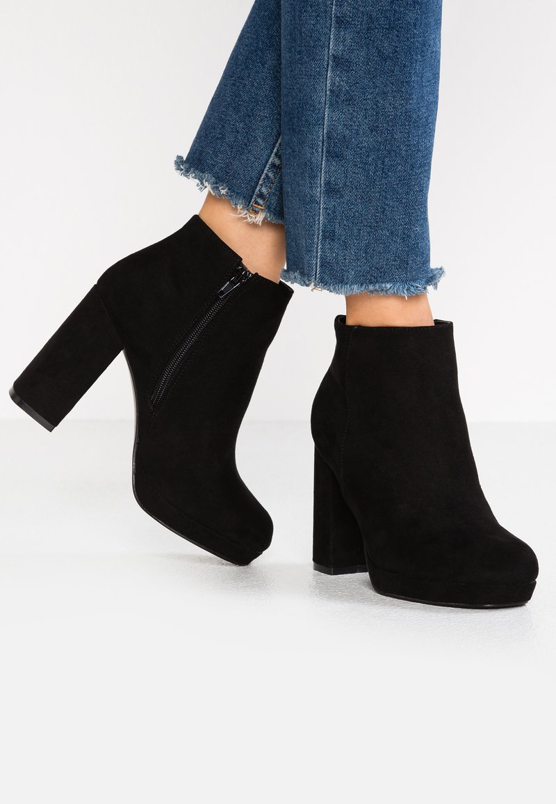 New Look Wide Fit - WIDE FIT ANASTACIA - High heeled ankle boots - black