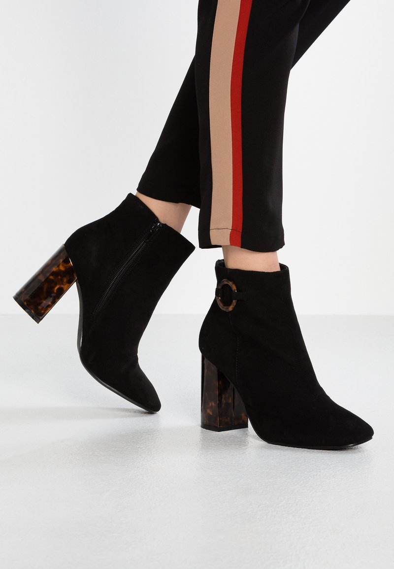 New Look Wide Fit - WIDE FIT BREEZY - High heeled ankle boots - black