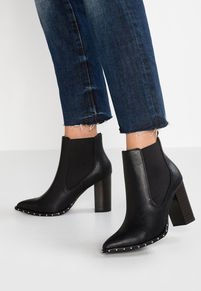 New Look Wide Fit - WIDE FIT CARBON - High heeled ankle boots - black