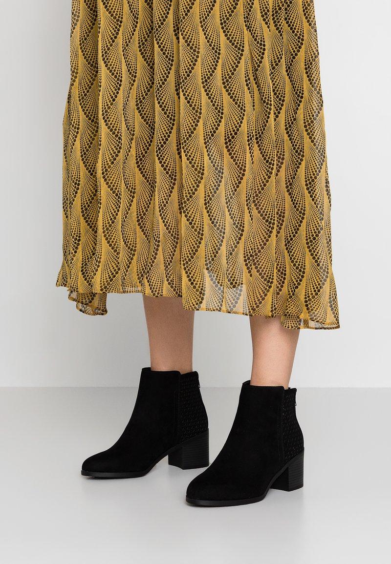 New Look Wide Fit - WIDE FIT ADDER - Boots à talons - black