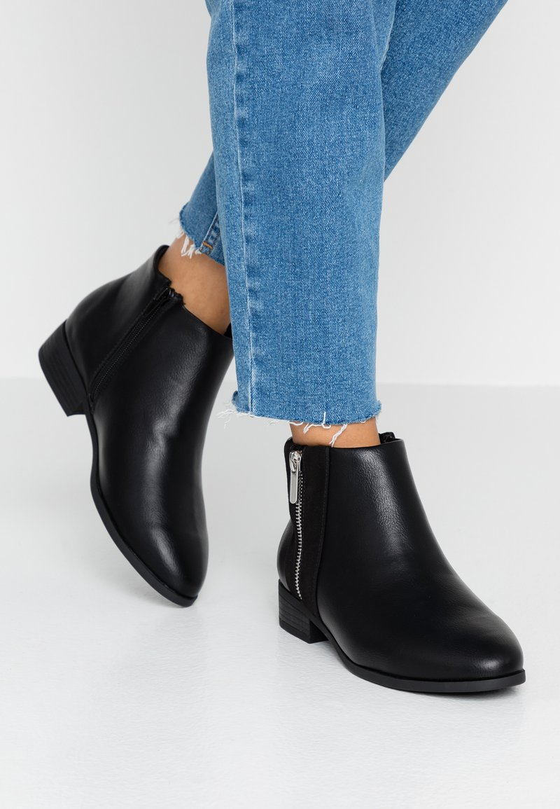 New Look Wide Fit - WIDE FIT DEIDRE - Botines bajos - black
