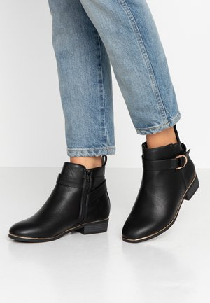 WIDE FIT DARING - Ankle boots - black