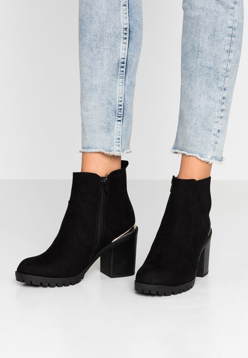New Look Wide Fit - WIDE FIT CARRIE - High heeled ankle boots - black
