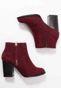 New Look Wide Fit - WIDE FIT DASSEL  - Kotníková obuv - dark red - 3