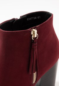 New Look Wide Fit - WIDE FIT DASSEL  - Kotníková obuv - dark red - 2